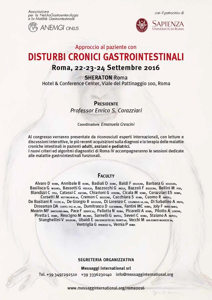Disturbi Cronici Gastrointestinali Roma 2016